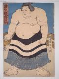 "The Sumo Wrestler ""Kumoudake Kiriemon"" by Kunisada"